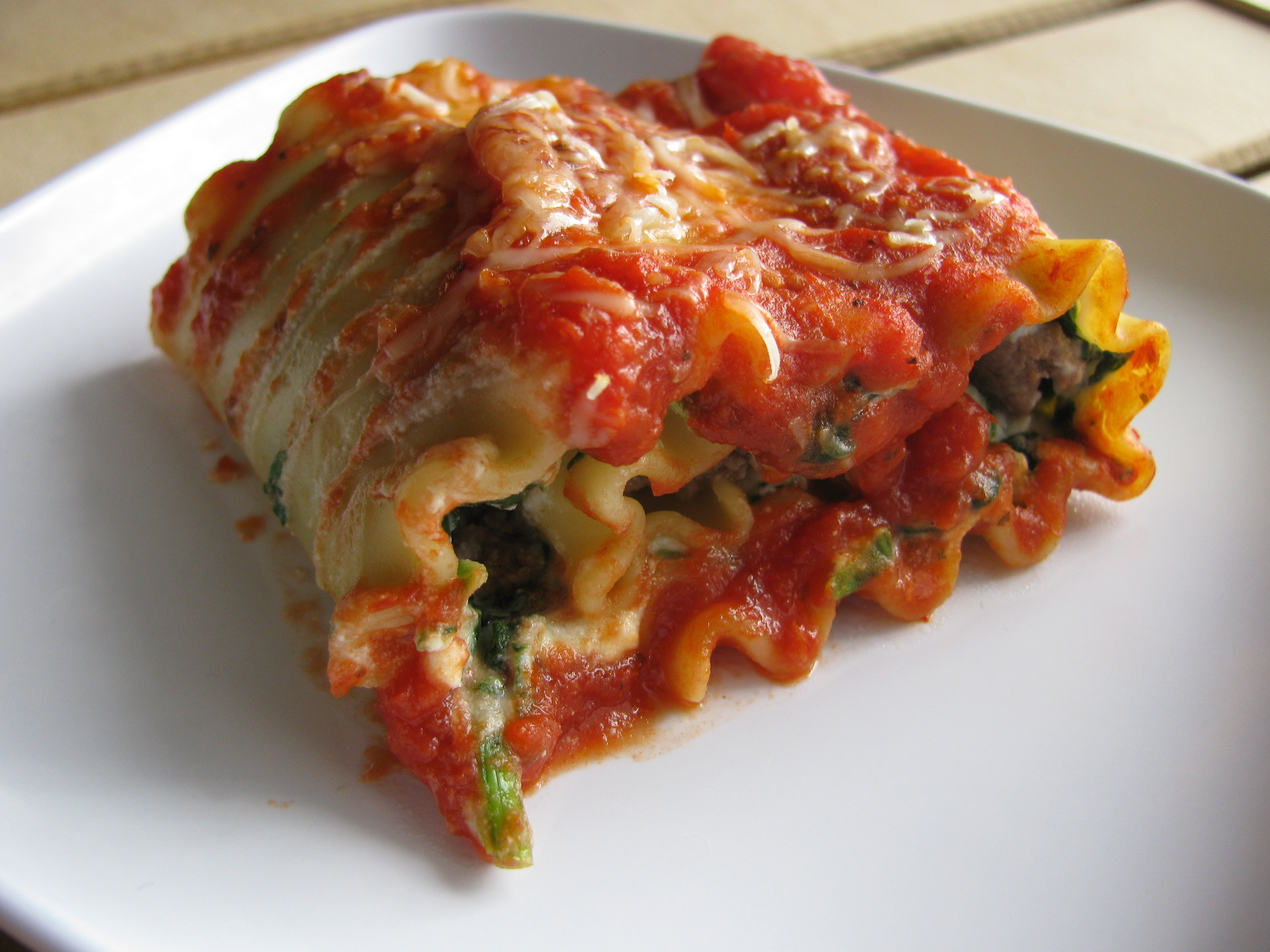 Pasta Roll-ups With Turkey And Spinach Recipes — Dishmaps