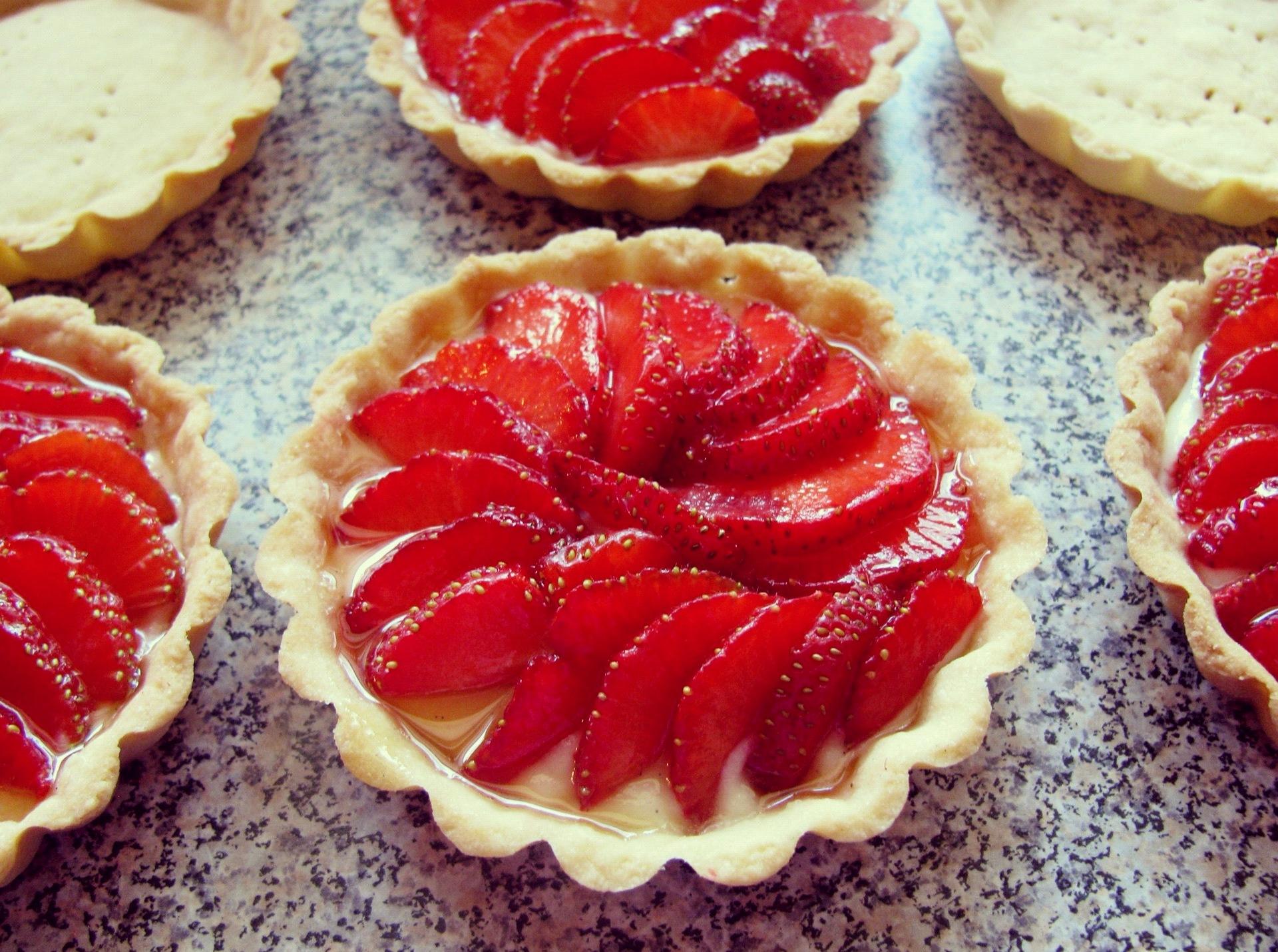Strawberry Tart Pastry Cream Strawberry Tarts With Pastry